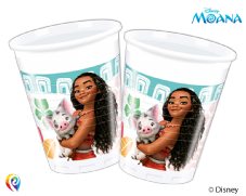 8 Moana Plastic Party Cups
